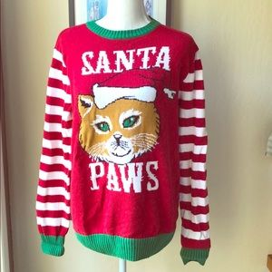 Ugly XMas Santa Paws sweater size M